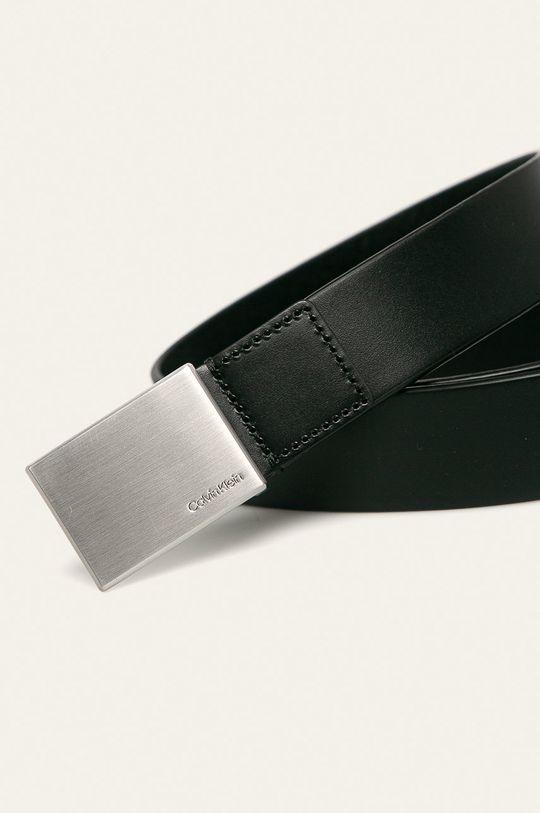 Calvin Klein - Pasek skórzany czarny