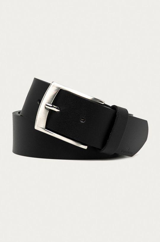 černá Tom Tailor - Kožený pásek Pánský