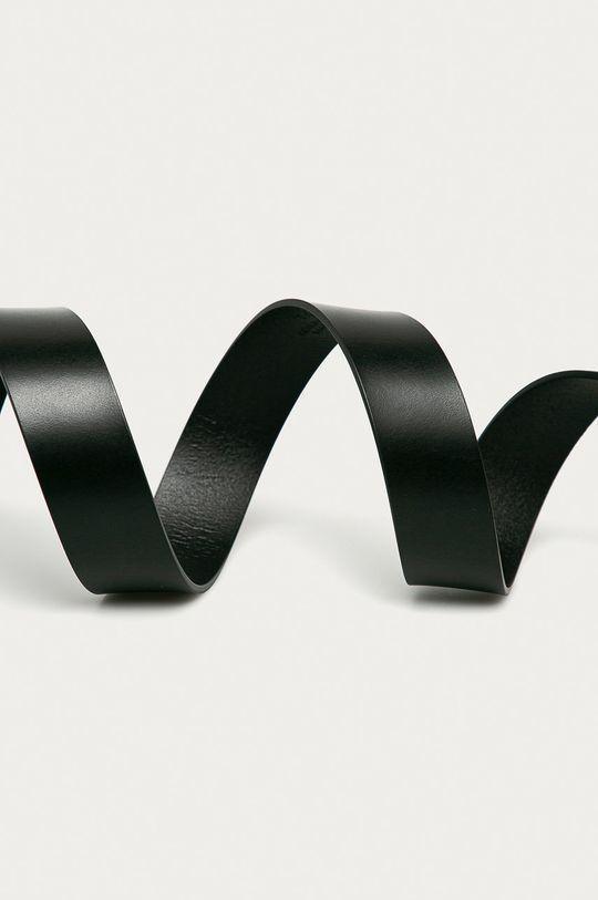 Tommy Hilfiger - Kožený opasok čierna