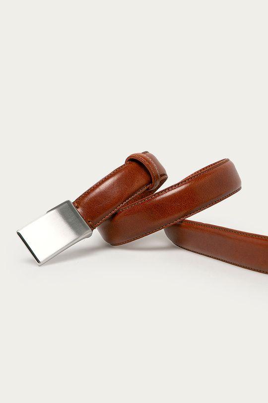 Selected - Pasek skórzany brązowy