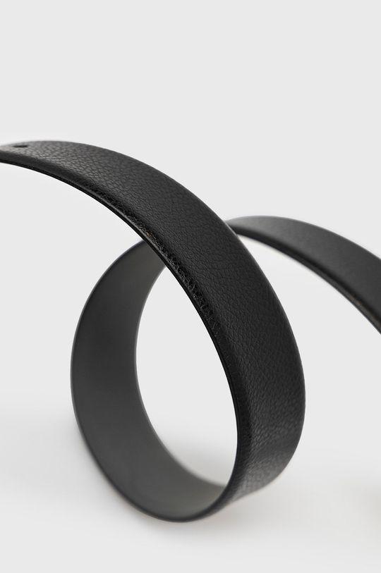 Boss - Kožený pásek černá