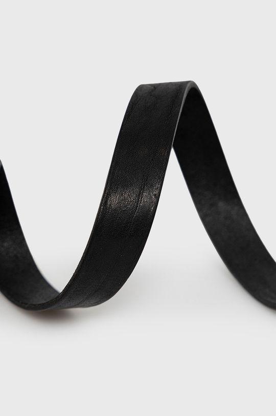 Jack & Jones - Pasek skórzany czarny
