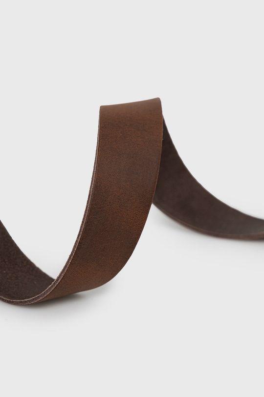 Jack & Jones - Pasek skórzany brązowy