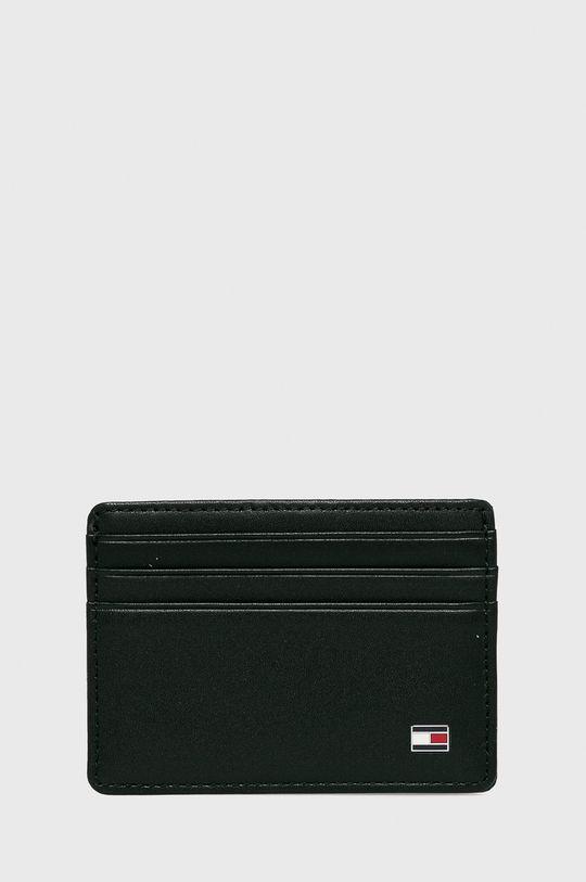 čierna Tommy Hilfiger - Kožená peňaženka Eton Pánsky