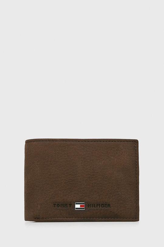 ciemny brązowy Tommy Hilfiger - Portfel skórzany Johnson Mini Męski
