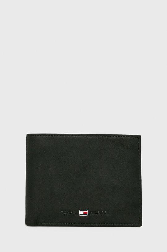 čierna Tommy Hilfiger - Kožená peňaženka Johnson Pánsky