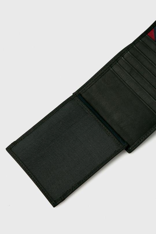 czarny Tommy Hilfiger - Portfel skórzany Johnson