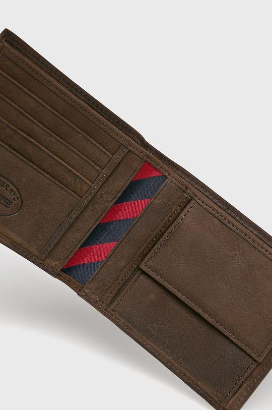 Tommy Hilfiger - Kožená peněženka Johnson tmavě hnědá