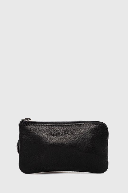 černá Strellson - Kožená peněženka Pánský