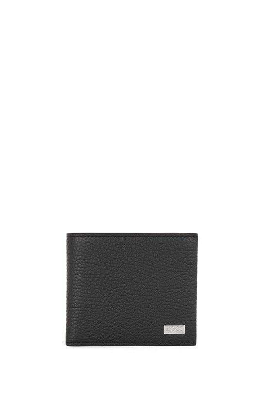 čierna Boss - Kožená peňaženka Pánsky