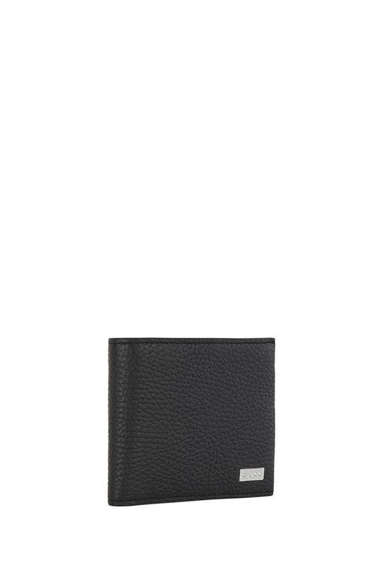 Boss - Kožená peňaženka čierna