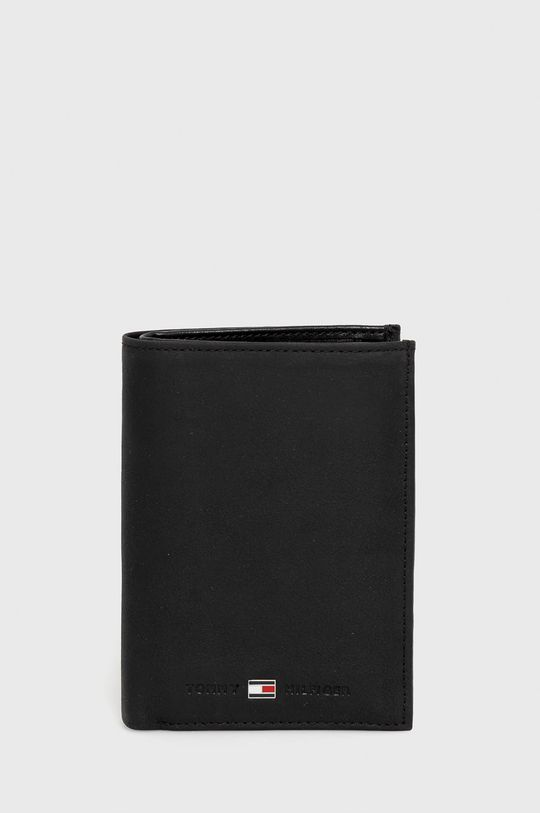čierna Tommy Hilfiger - Kožená peňaženka Pánsky