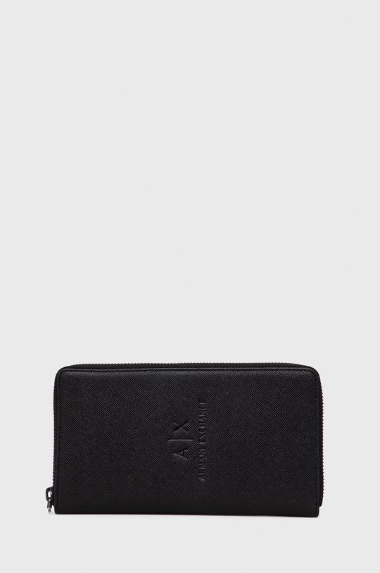 negru Armani Exchange - Portofel de piele De bărbați