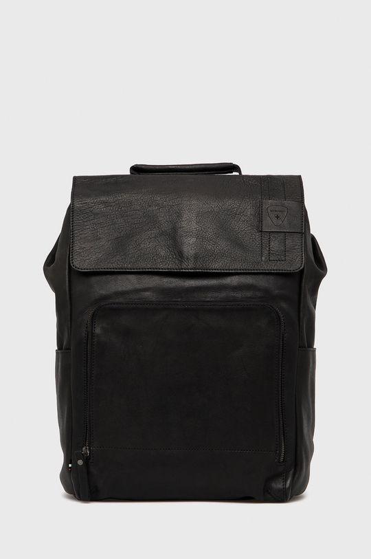 czarny Strellson - Plecak skórzany Męski