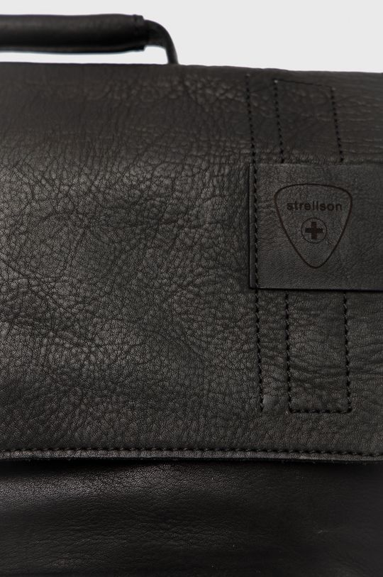 Strellson - Plecak skórzany czarny