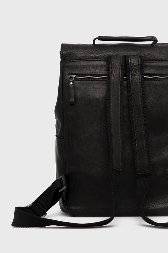 czarny Strellson - Plecak skórzany
