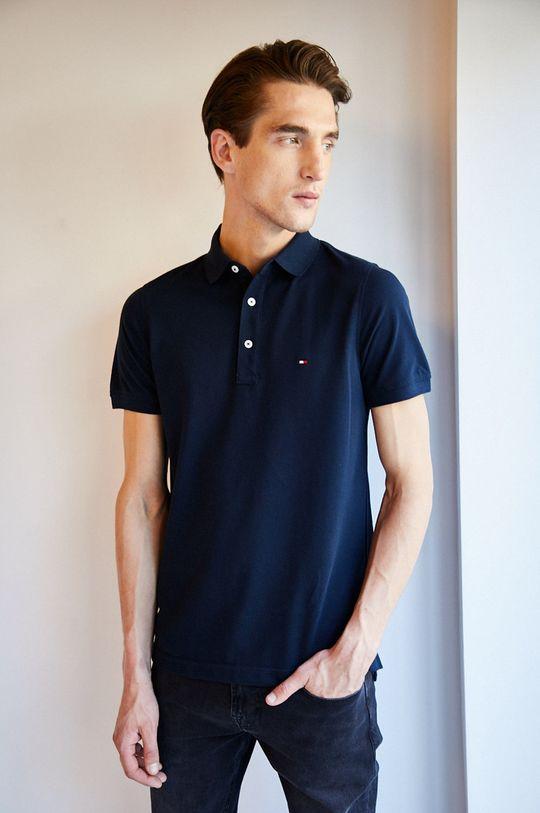 tmavomodrá Tommy Hilfiger - Pánske polo tričko