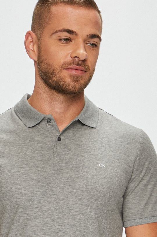 šedá Calvin Klein - Polo tričko Pánský