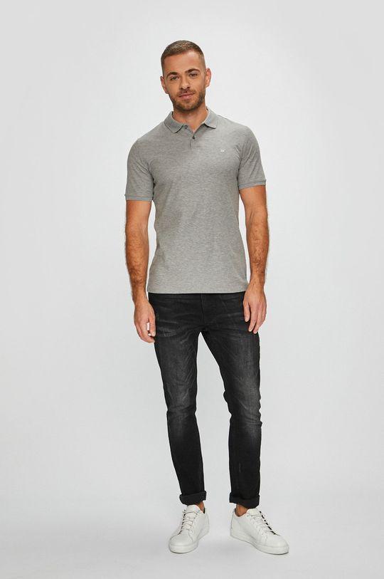 Calvin Klein - Polo tričko šedá