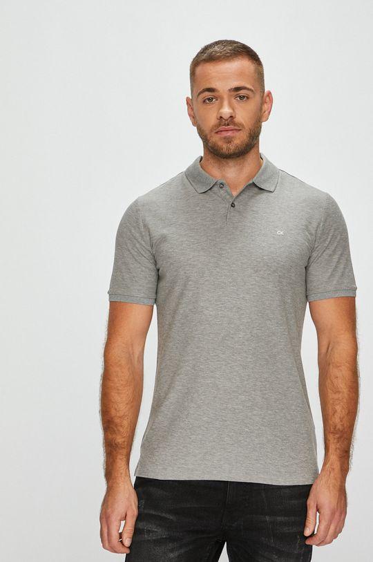 šedá Calvin Klein - Polo tričko