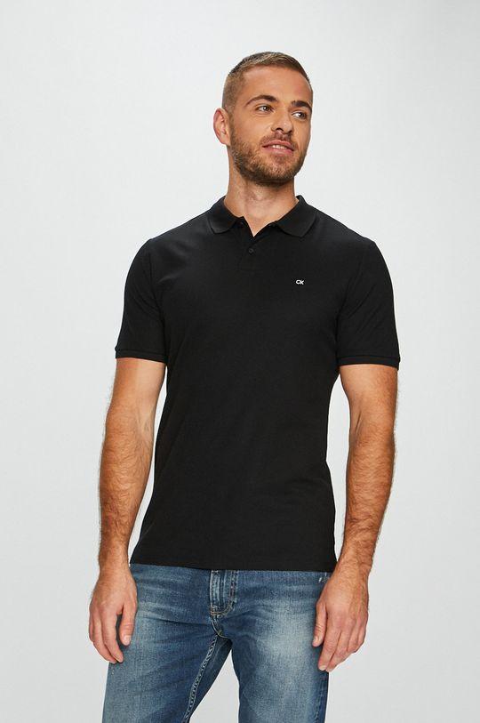 čierna Calvin Klein - Pánske polo tričko Pánsky