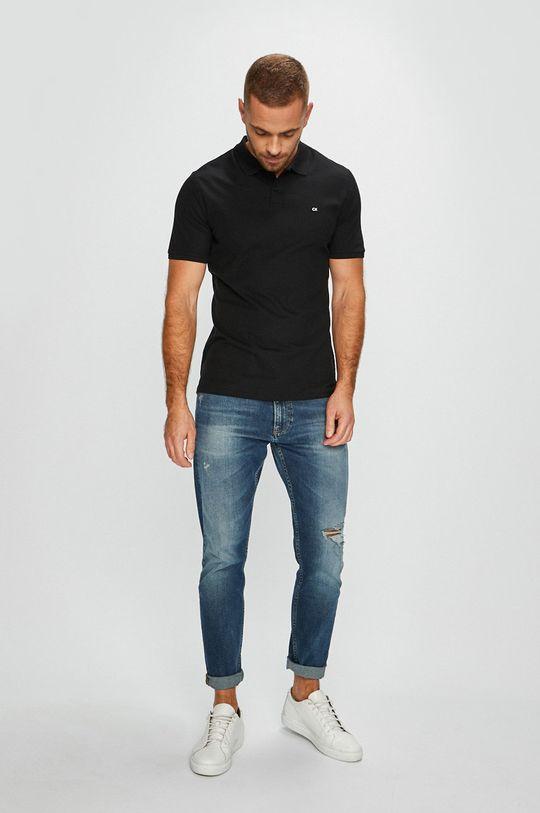 Calvin Klein - Pánske polo tričko čierna