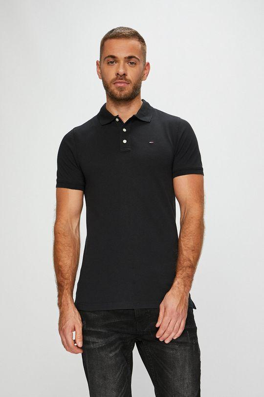 černá Tommy Jeans - Polo tričko Pánský