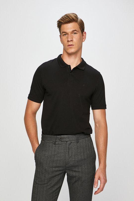 čierna Jack & Jones - Pánske polo tričko Pánsky
