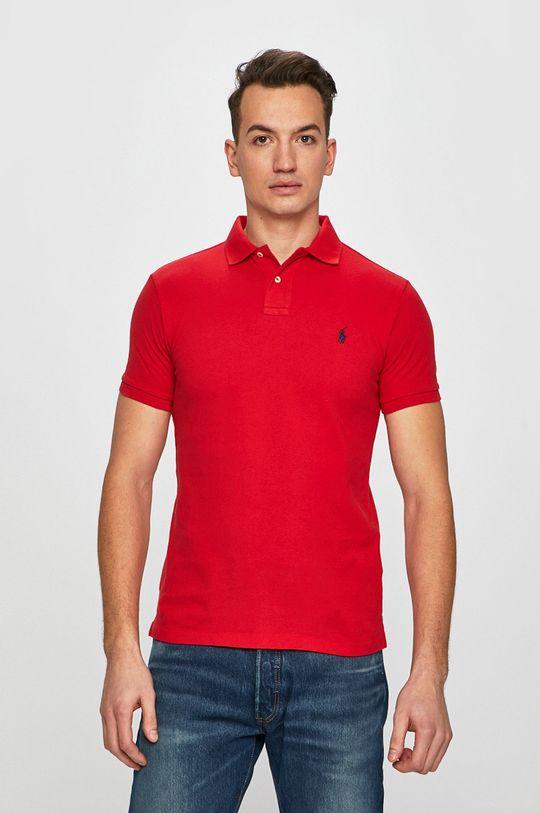 czerwony Polo Ralph Lauren - Polo Męski