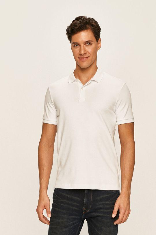 bílá Selected - Polo tričko Pánský