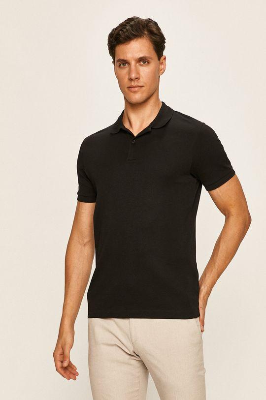 černá Selected - Polo tričko Pánský
