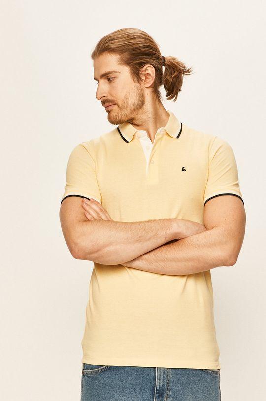 žltá Jack & Jones - Polo tričko Pánsky