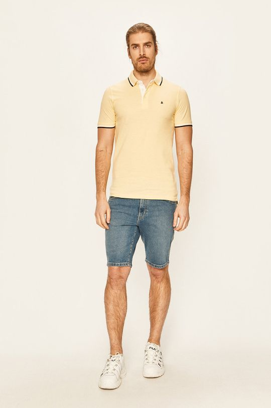 Jack & Jones - Tricou Polo galben