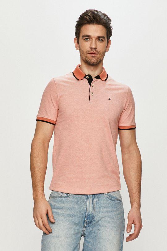 broskvová Jack & Jones - Polo tričko Pánský