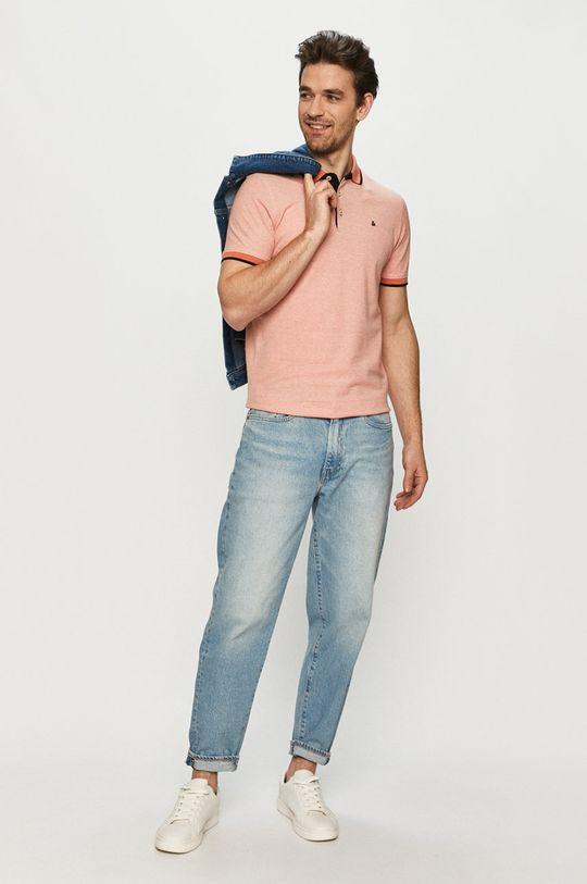 Jack & Jones - Polo tričko broskvová