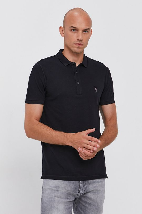 námořnická modř AllSaints - Polo tričko Reform Polo Pánský