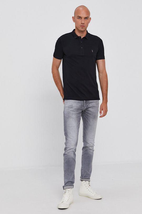 AllSaints - Polo tričko Reform Polo námořnická modř
