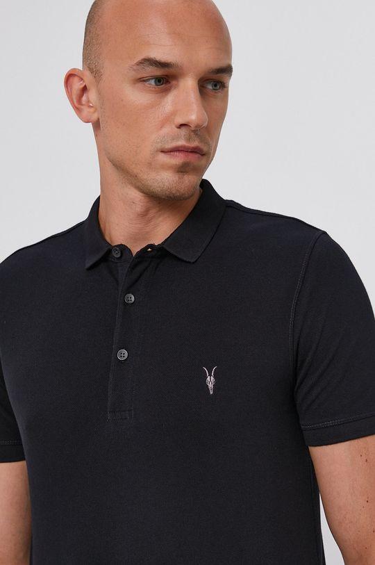 námořnická modř AllSaints - Polo tričko Reform Polo
