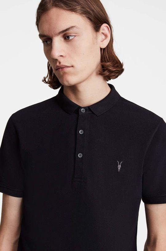 AllSaints - Polo tričko Reform Polo černá