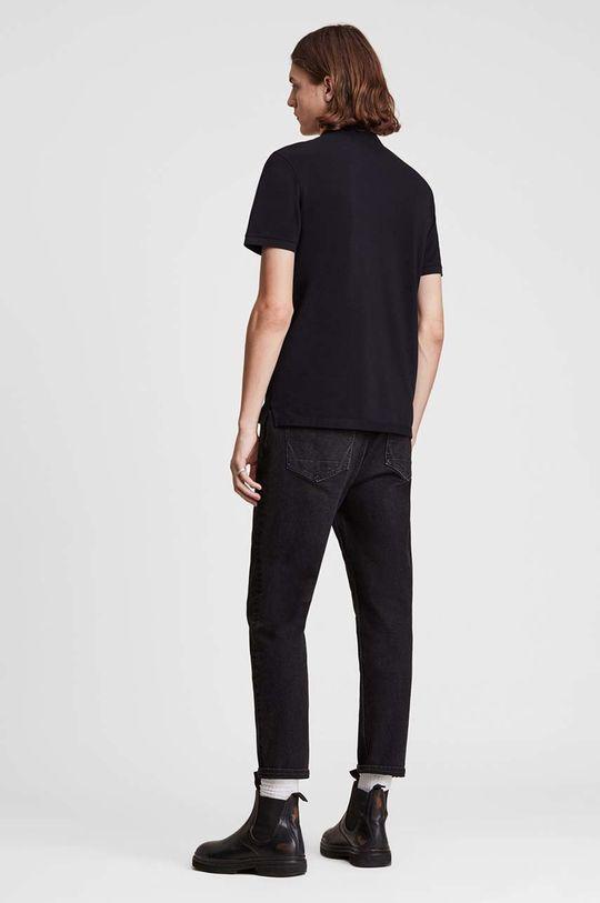 černá AllSaints - Polo tričko Reform Polo