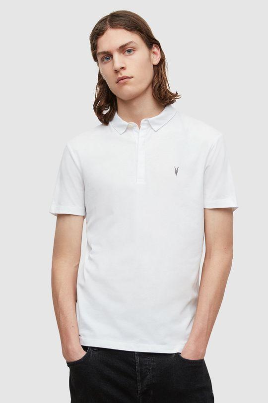 biały AllSaints - Polo Brace SS Polo Męski