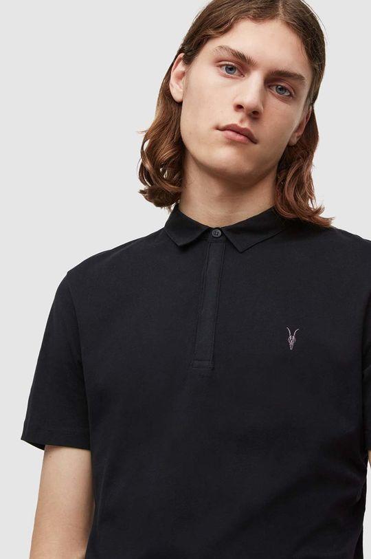 AllSaints - Polo tričko Brace SS Polo černá
