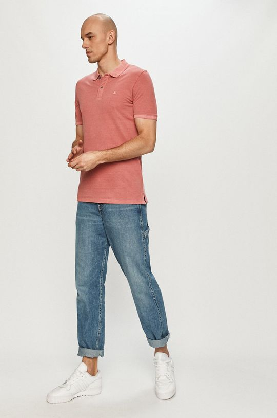 Jack & Jones - Polo tričko ružovo-červená