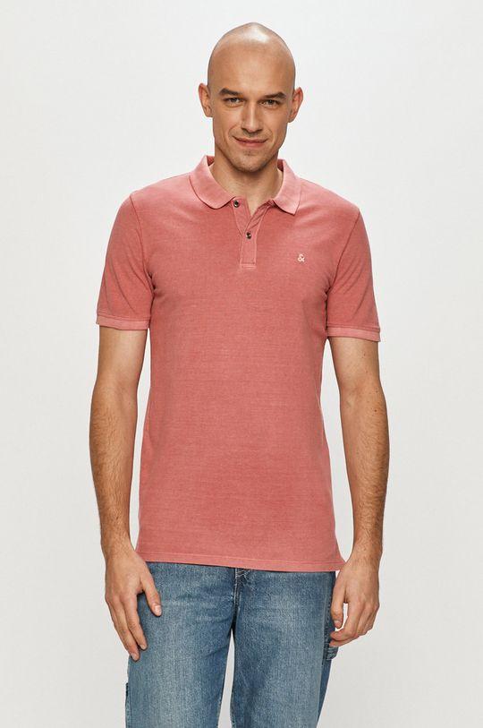 ružovo-červená Jack & Jones - Polo tričko