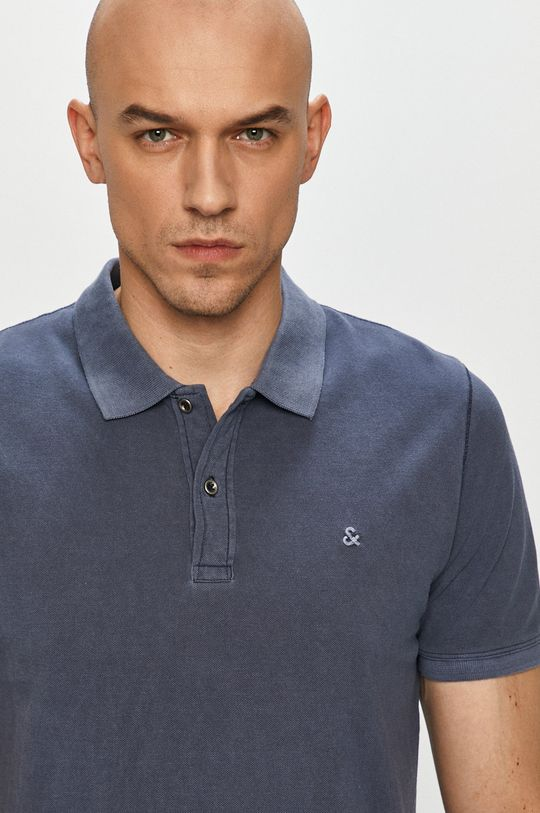 albastru metalizat Jack & Jones - Tricou Polo De bărbați