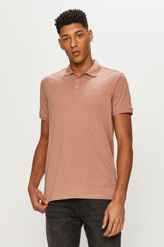 pastelová ružová Premium by Jack&Jones - Polo tričko Pánsky