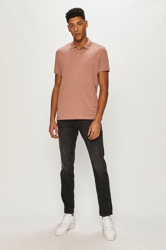 Premium by Jack&Jones - Polo tričko pastelová ružová