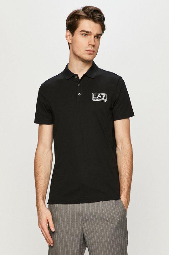 černá EA7 Emporio Armani - Polo tričko Pánský