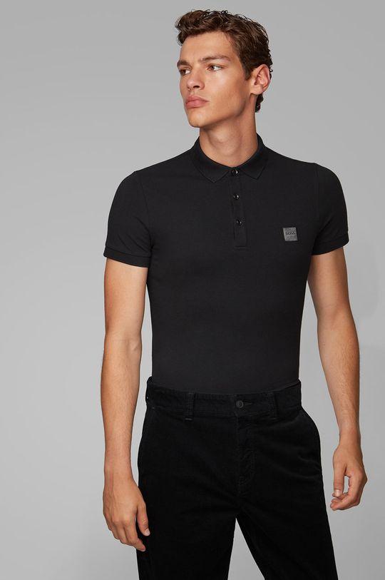 čierna Boss - Polo tričko Boss Casual Pánsky