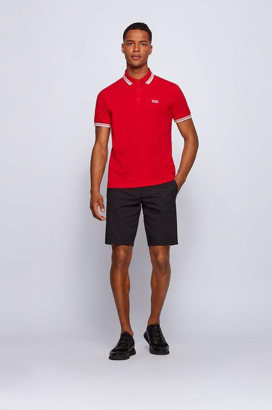 Boss - Polo tričko Boss Athleisure červená